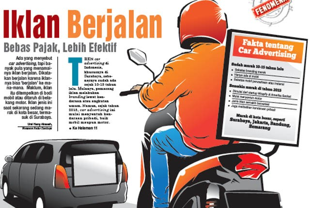pajak iklan di mobil atau motor