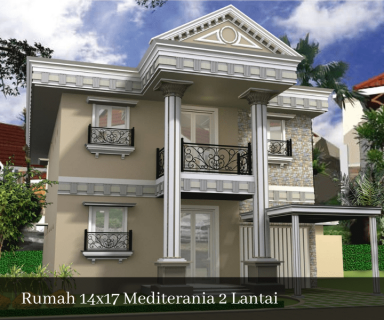 rumah 14x17 mediterania 2 lantai sinanarsitek.com