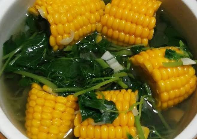 Cara membuat sayur bayam jagung