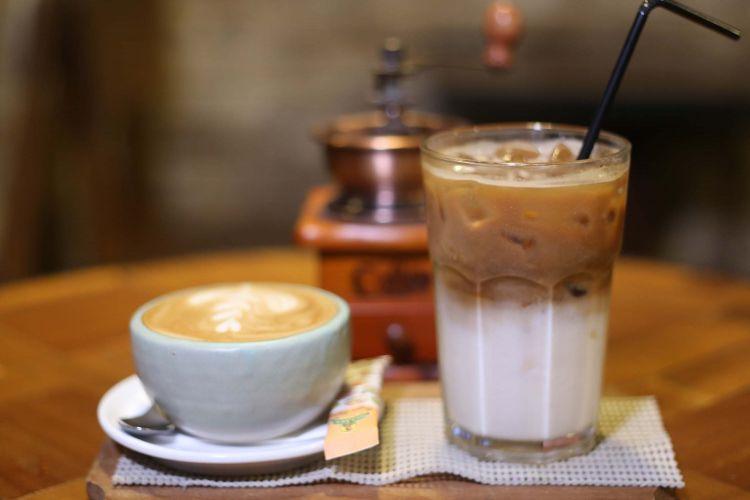 kopi latte dingin