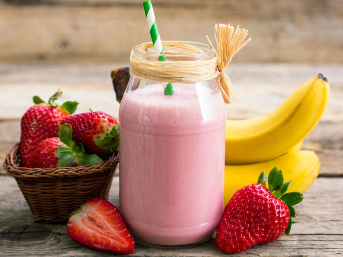 Smoothies Pisang Strawberry